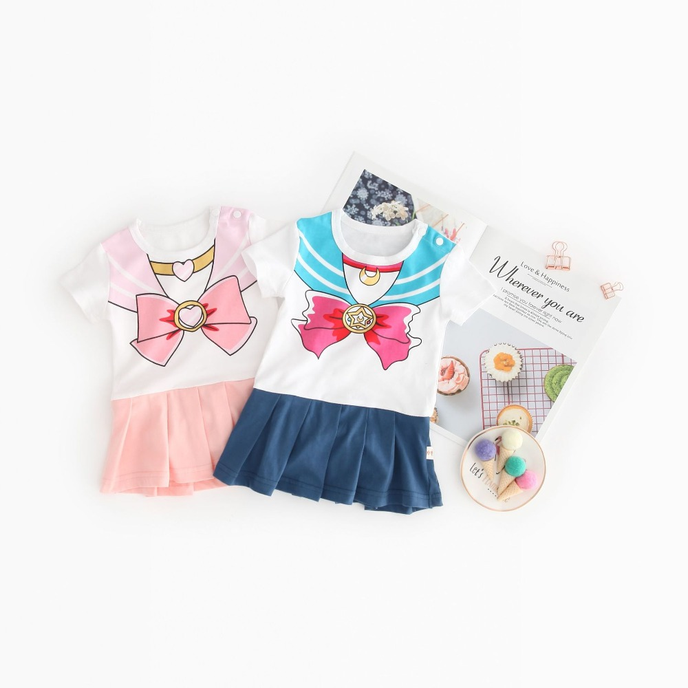 Costume Dresses Romper Onesie Short-Sleeve Sailor-Moon Magical Baby-Girl Children Summer title=