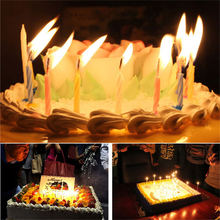 10pcs/set Quality Magic Relighting Candle Kids Birthday Candle for Cake Birthday Candle Gift Fun Party Decor Joke Xmas Gift