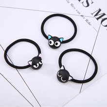 Black Cats Elastic Hair Bands Rubber Rope for Women Girl Headwear Hair Accessories Animal Hair Ties