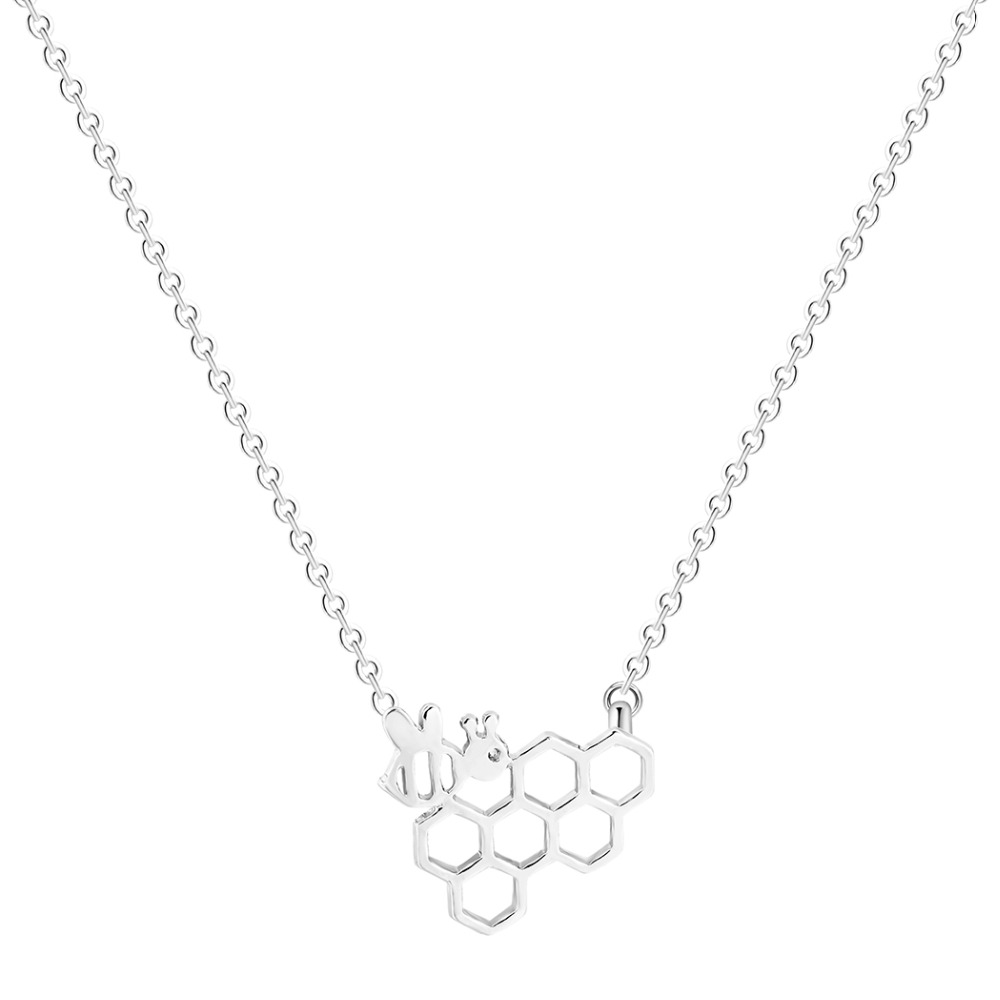 QIAMNI-Geometric-Polygon-Molecular-Cute-Honeycomb-Beehive-Hive-Bee-Honeybee-Animal-Pendant-Necklace-Christmas-Gift-for (1)