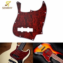 Electric Acoustic Guitar Pickguard Scratch Plate Guitarra Bass Anti-scratch Parts Red For Musical Instruments Parts Accessories(China)