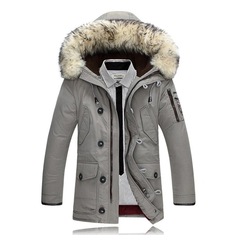 2017 Men Duck Down Coats Winter Jackets Parkas Mens Down Jacket Rabbit Fur Parka Jacket Feminina Brand Clothing Overcoat for Man