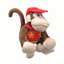 "Free Shipping EMS 100/Lot Super Mario Diddy Kong 6"" Plush Doll Soft Animal Dolls Stuffed Toys"
