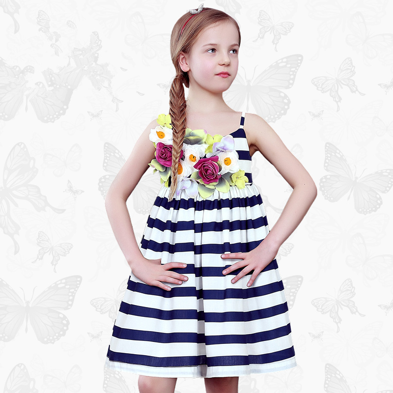 1 Girls Dress with Handmade Dragonfly 2017 Brand Princess Dress Long Sleeve Robe Fille Clothes Kids Dresses 49<br>