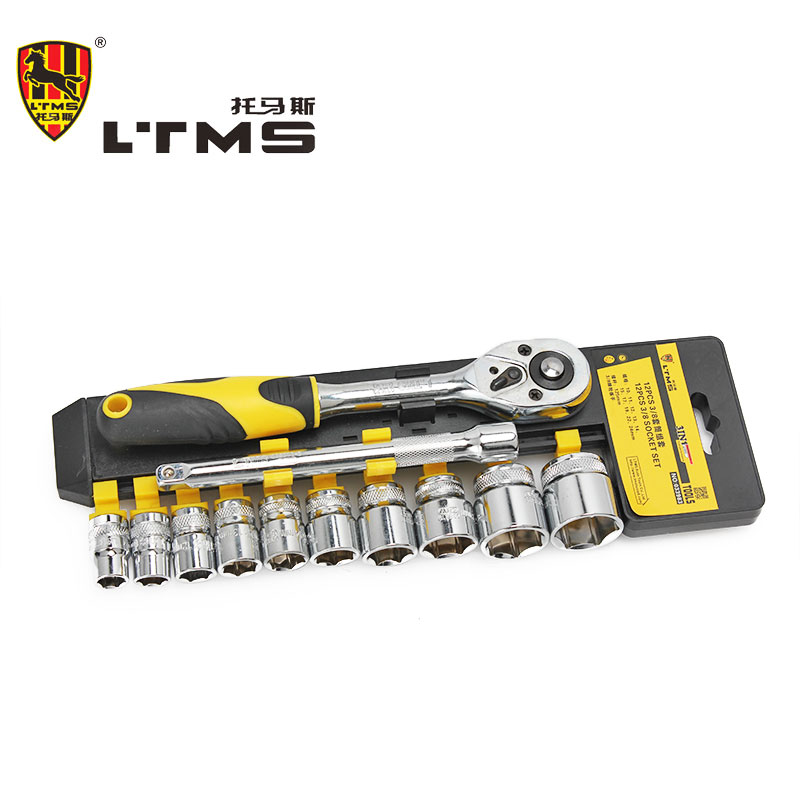 High Quality Quick Maintenance Tool Ratchet Wrench 12 Ps Chrome Vanadium Steel Sleeve Hand Tools Combination Home Kit<br><br>Aliexpress