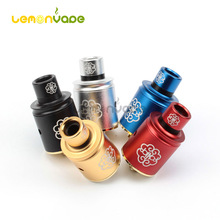 Coil Father Petri V2 22mm RDA Atomizers Petri V2 Aluminum Tanks E Cig Vaporizer Airflow Control with Extra Drip Tips
