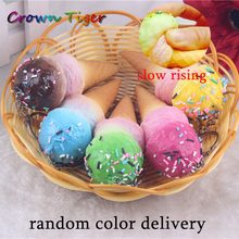 10CM kawaii soft scented squishy slow rising ice cream squeeze antistress fun toys cell phone keys pendant cute squishies bread(China)