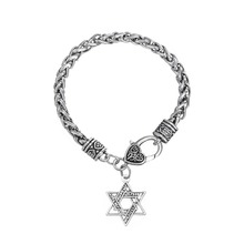 Dawapara Star Of David With Hebrew Letter Charm Bracelets For Women Jewelry