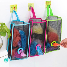 Fashion Breathable Mesh Hanging Kitchen Garbage Storage Packing Pouch Bag(China)