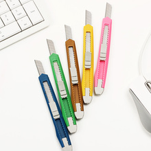 3PCS Fashion Office Stationery Metal and Plastic Small Size Utility Knife Color Randomly Delivered