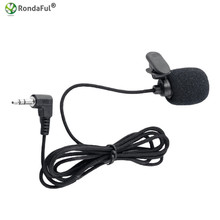Portable 3.5mm Mini Wired Headset Microphone Tie Clip Mic For Lectures Teaching Conference Guide Studio Loudspeakers(China)