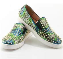 Trend 2019 Loafers Mens Mixed Colors Spikes Rivets Platform  SuperstarTrainers Flats Men Shoes Casual Shoes Men Low Top Slip On d54d3a30a0aa