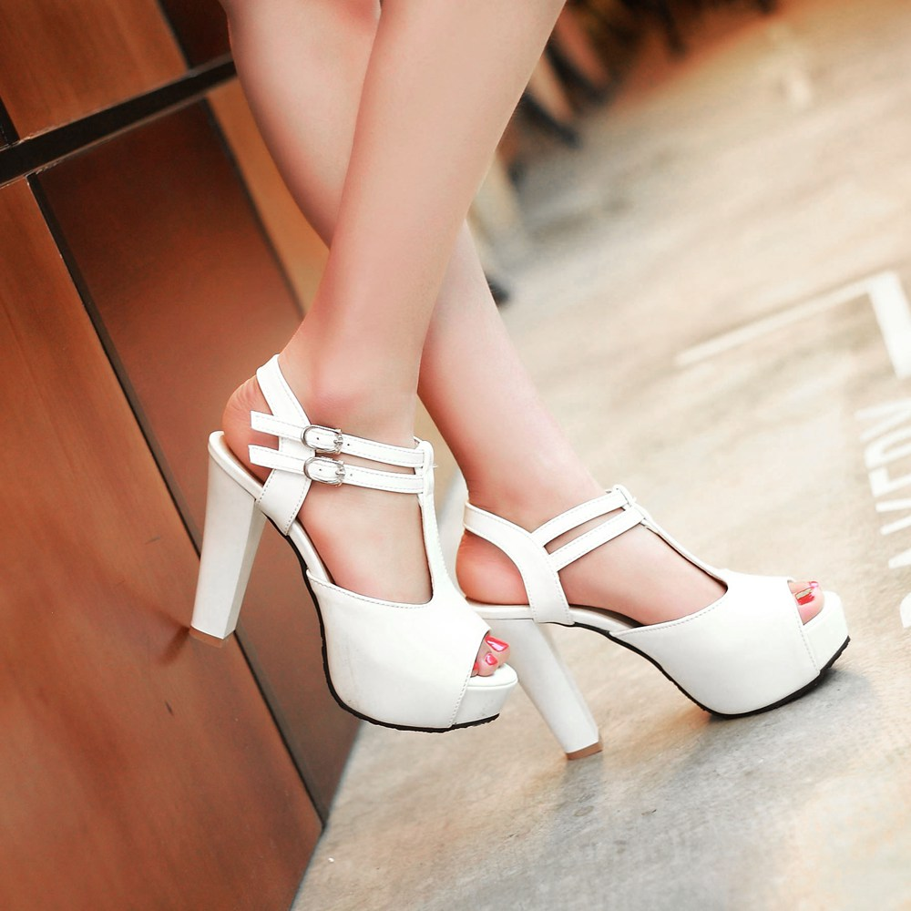 New 2016 Hot Sale Thick High Heels Platform Summer Dress Shoes For Women Sexy Casual Peep Toe Sandal Drop Shipping<br><br>Aliexpress