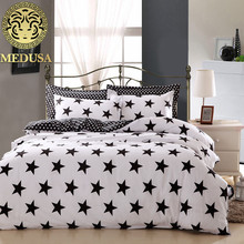 Medusa classic black n white fashion bedding set duvet cover flat sheet pillow case king queen double single size 3/4pcs kit