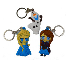 3pcs BOHS Snow Queen 1pc Freeze Princess Elsa Anna Olaf Keychain Promotional Gift(China)