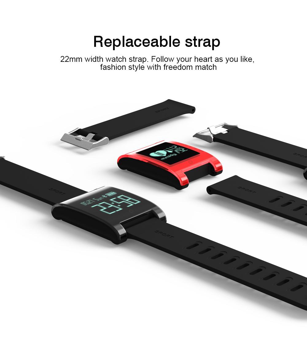 FREZEN Smart Bracelet DM68 Smart Band Fitness Sleep Activity Tracker Blood Pressure Oxygen Heart Rate Tracker For Android IOS 7