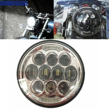 75W Motos Accessories 5.75inch Motorcycle Headlight Led Headlight for Harley Davidson Dyna Sportster 1200 XL1200L 883L XL883R 48