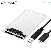 CHIPAL Transparant 2.5 inch HDD SSD Case Sata naar USB 3.0 Adapter Gratis 5 Gbps Box Harde Schijf Behuizing Ondersteuning 2 tb UASP Protocol(China)