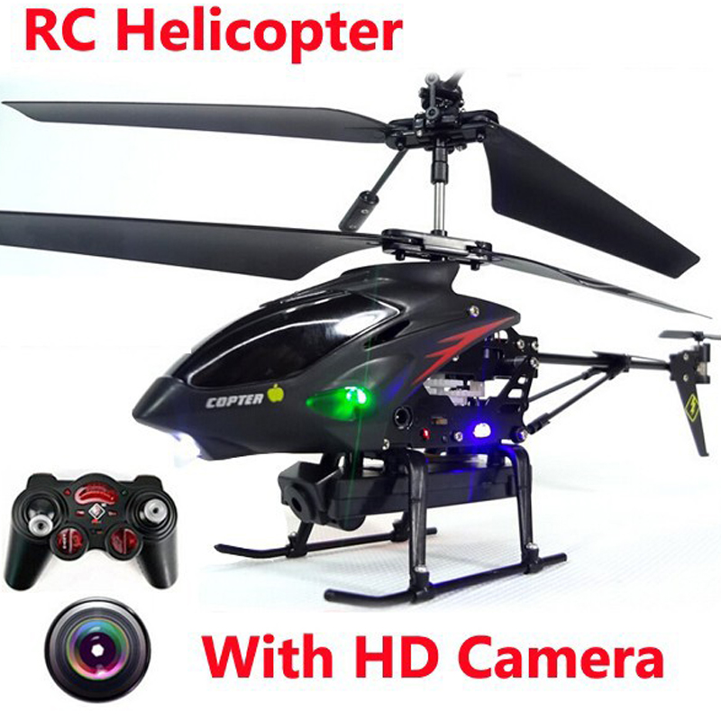 Rc Helicopter Drone With Camera Avatar 3.5 CH Metal Remote Control Shatter Resistant Dron radio control toys helicoptero(China)