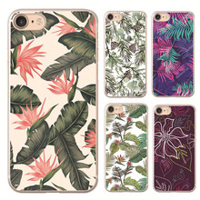 Banana leaves  plastic Cover Case For Apple iphone  4s 5 5s SE 5c 6 6S 6PLUS 7 7PLUS