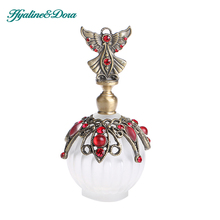 18ML Retro Antique Glass Perfume Bottle 1.4 inch Flower Vine Empty Glass Cosmetic Container Wedding Decoration Perfume Bottle(China)