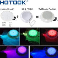 HOTOOK New Underwater Lights PAR56 RGB LED Swimming Pool Light IP68 Waterproof Wall Mounted Focos LED Pool PondLamp 12V 18W 42W(China)