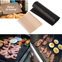 Thick Outdoor Barbecue Mat Teflon High-temperature Non-stick Grill Mats Oven BBQ Baking Liners Pads Sheets