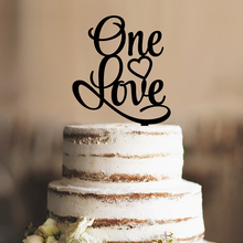 One Love Unique Wedding Cake Topper Romantic Wedding Cake Decorations Acrylic Silhouette Modern and Elegant Wedding Cake Topper