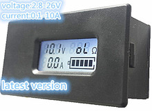 PEACEFAIR Digital Lithium  Battery Tester LCD Meter Voltage/Current/Electric Quantity 18650 18350 26650 Lithium Battery