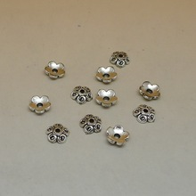 A0801 Wholesale 400pcs Tibet Silver Bead Caps Jewerly Finding 6x6mm