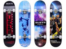 Fashional Cool Long Skateboard Four Wheel Double Rocker Waterproof Canadian Maple Wood Skateboard FREE SHIPPING