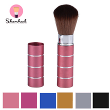 1PC Pro Retractable Dome Blush Brush Aluminum Eyeshadow Foundation Facial Brushes Makeup Cosmetic Tools