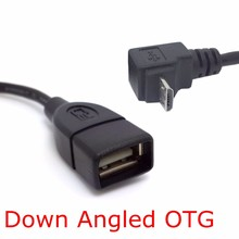 100PCS/90 Degree & Right Angled Connector Micro USB 2.0 Male USB 2.0 Female OTG Cable Adapter 10cm USB flash disk