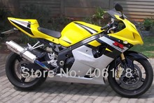 Hot Sales,K3 GSXR1000 03 04 For Suzuki Fairing Kit GSX-R1000 2003 2004 Yellow Black White Sport Body Kit (Injection molding)