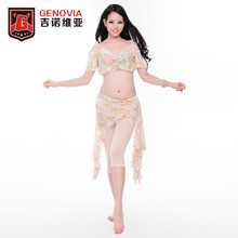 2017 Oriental Belly Dance Costumes Performance Club Stage 3 Pics Top & Skirt & Safety pants MIA GENOVIAG Belly Dance(China)