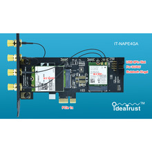 IdeaTrust IT-NAPE4GA NGFF M.2 M2 Key B and key A to PCIe 1x X1 Adpater 3G/4G and WiFi Card Adpater PCI-E For desktop