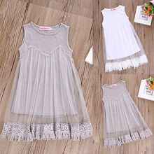 Lace Tassel Dress Baby Kids Girl Tulle Lace Princess Clothes Sundress Party Summer Wedding Dresses