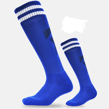 Stripped Sport Football Soccer Long Socks Over Knee High Sock Baseball for Kids adults Breathable Anti-slip Soccer Socks
