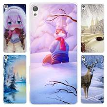 Winter in Central Park Animated Winter Clear Cover Case for Sony Xperia Z1 Z2 Z3 Z4 Z5 M4 Aqua M5 XA XZ C4 E5 l36h(China)