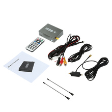 Digital Mini Car TV Box ISDB-T Analog TV Strong Signal TV Receiver for Car DVD Player Monitor with Antenna Remote Controller(China)
