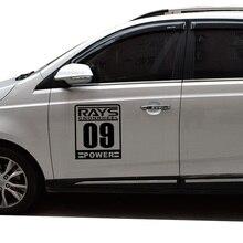 RAYS POWER 09 decoration car side door decor stickers decals mazda 3/skoda octavia/peugeot/bmw e39/mercedes,car styling