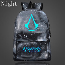 2017 Hot Sale Luminous Bags For Teenagers Assassins Creed Backpacks Hot Game Boy Girl School Bags High Quality Oxford Backpacks