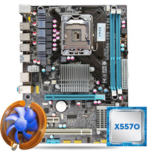 HUANAN USB3.0 X58 motherboard CPU combos with cooler X58 LGA1366 motherboard Xeon X5570 CPU RAM dual channel All tested(China)