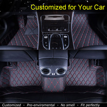 Car Floor Mats Case for Toyota Alphard 2/3 rows Customized Auto 3D Carpets Custom-fit Foot Liner Mat Car Rugs Black
