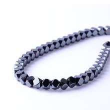 Top quality 2/3/4mm Natural stone bright polyhedron shape loose hematite beads for DIY jewelry necklace bracelet making