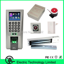 F18 Fingerprint Access Control Fingerprint Door Lock System Power Supply 280KG Magnetic locks Touch Switch Wired Door Bell/Alarm