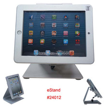 for iPad 2/3/4/ air desktop kiosk POS stand with security lock display on table eStand