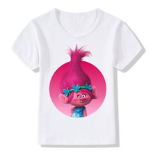 Buy 2018 Children Cartoon Trolls Print Funny T-Shirts Kids Summer Tops Boys/Girls Short Sleeve Clothes Casual Baby Tee shirt,HKP2174 for $4.89 in AliExpress store