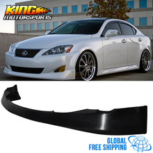 For 06-08 LEXUS IS250 IS350 JDM VIP FRONT BUMPER LIP SPOILER BODYKIT URETHANE  Global Free Shipping Worldwide