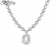 Geometric Crystal From SWAROVSKI Chains Necklace  Luxury Fashion Accessories For Women wedding gifts